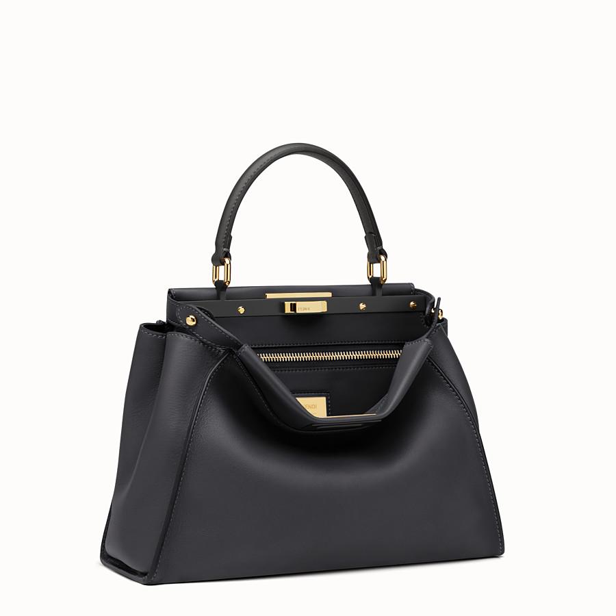 a6254bc23a Black leather handbag - PEEKABOO REGULAR