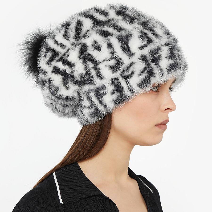 FENDI HAT - White mink hat - view 3 detail