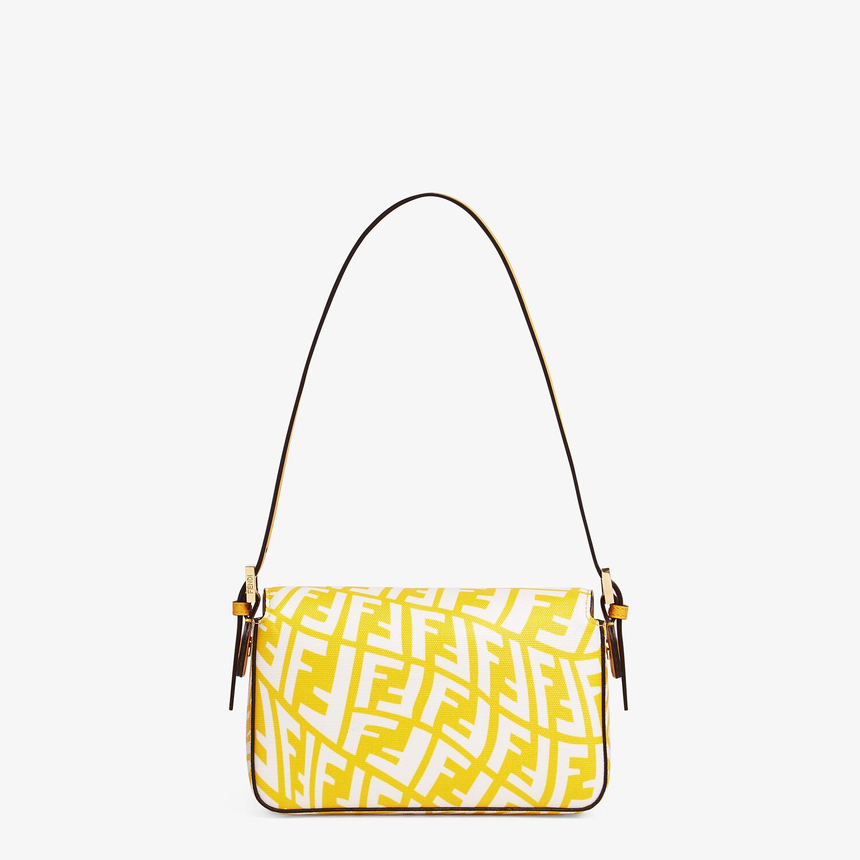 FENDI MINI BAGUETTE 1997 - Yellow glazed canvas bag - view 4 detail