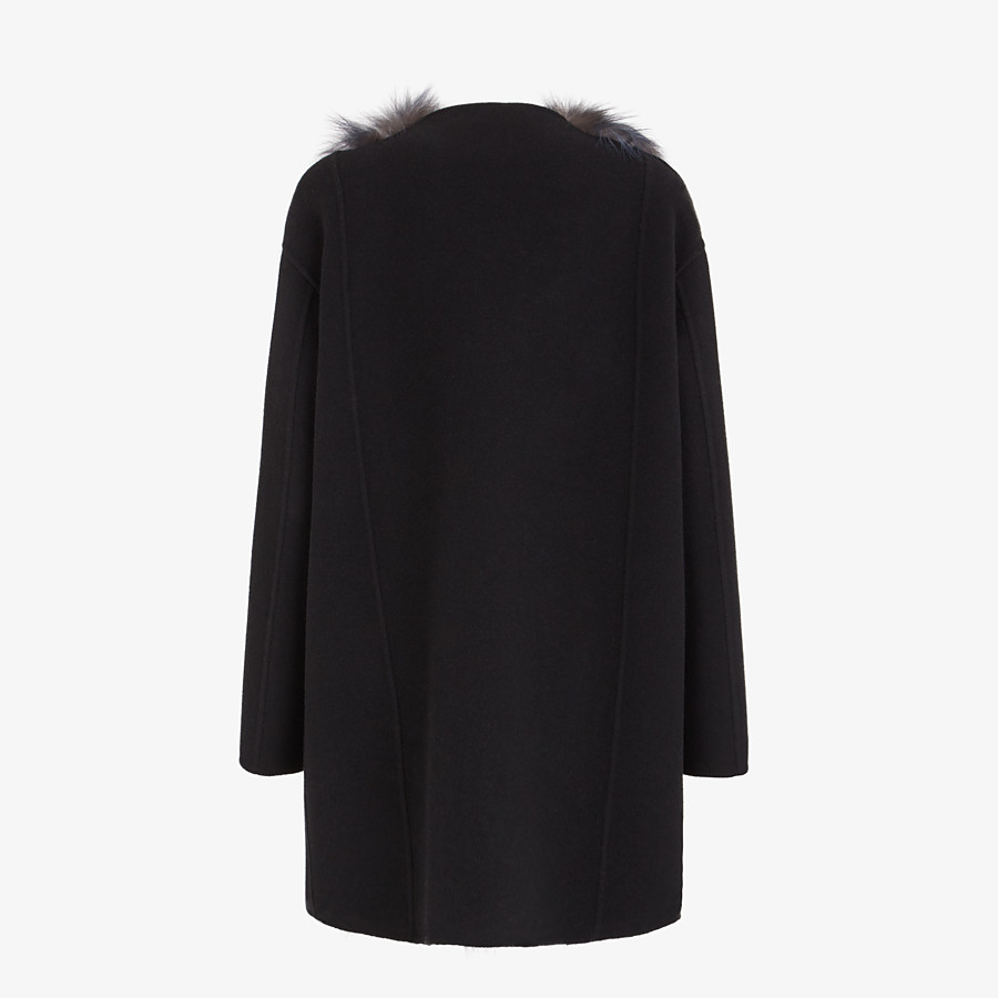 FENDI COAT - Black cashmere coat - view 2 detail