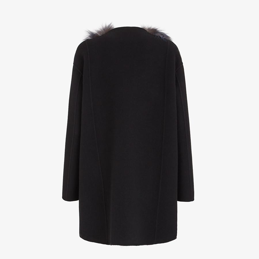 FENDI COAT - Black cashmere coat - view 2 detail