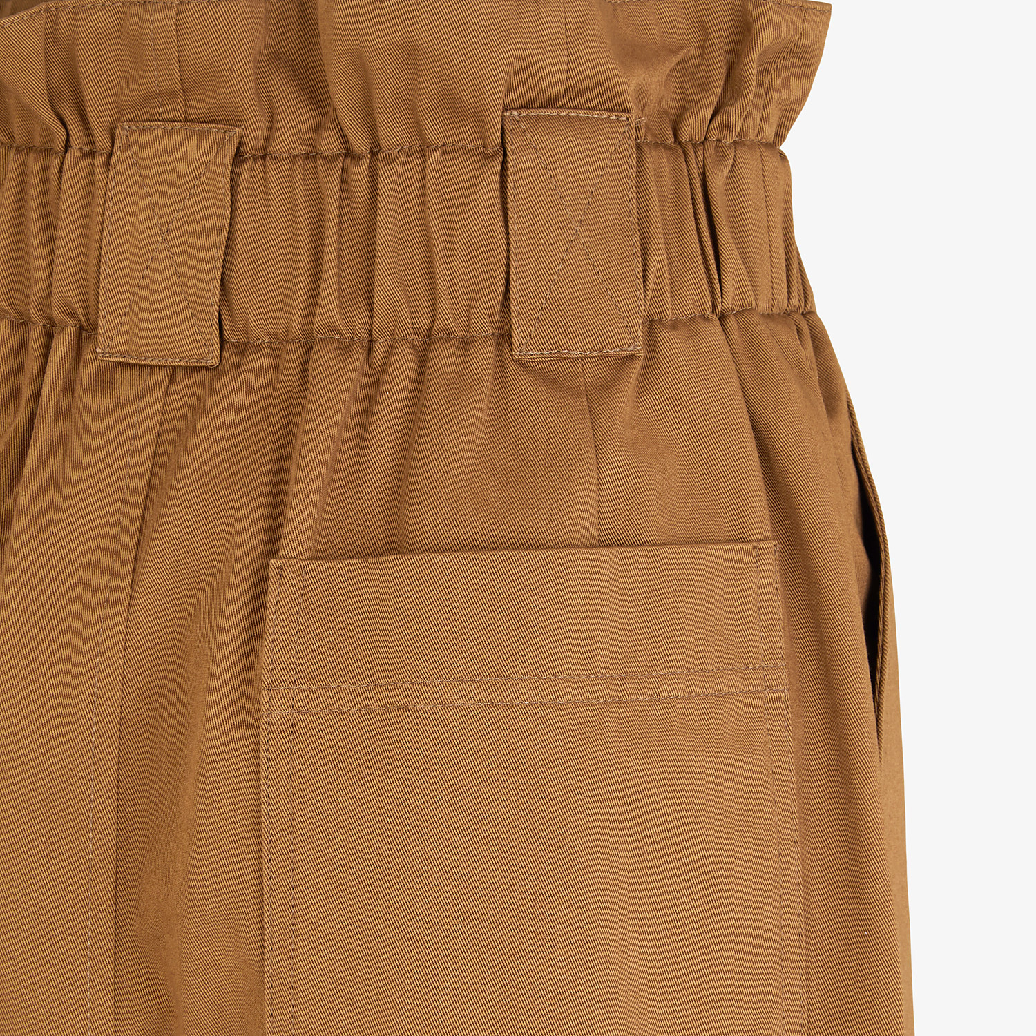 FENDI TROUSERS - Brown gabardine trousers - view 3 detail