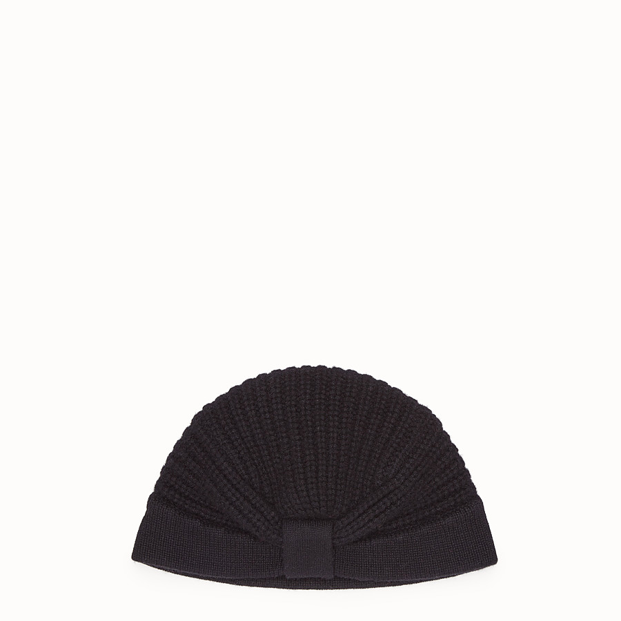 FENDI HAT - Black cashmere hat - view 1 detail