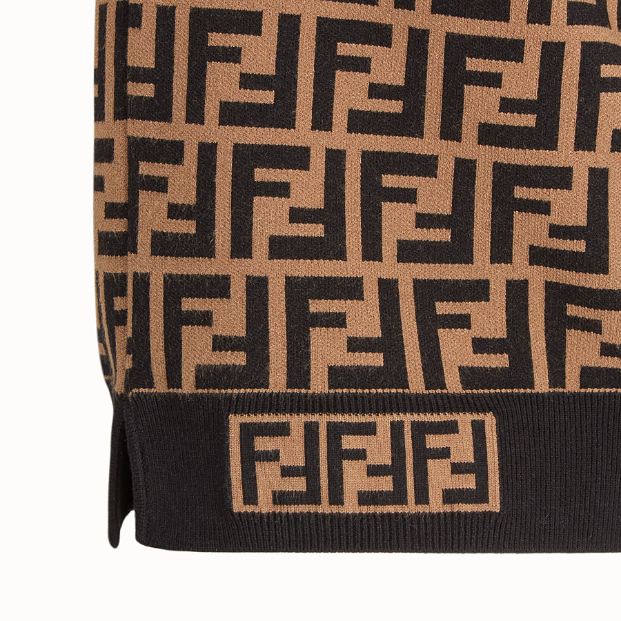 FENDI PULLOVER - Brown fabric jumper - view 3 detail