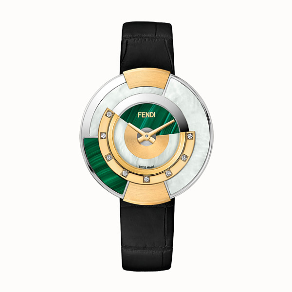 FENDI POLICROMIA - 38 mm - Watch with diamonds and genuine stones - view 1 small thumbnail