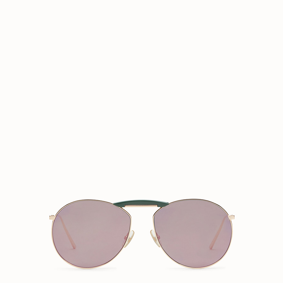 FENDI GENTLE FENDI - Copper-coloured sunglasses - view 1 detail
