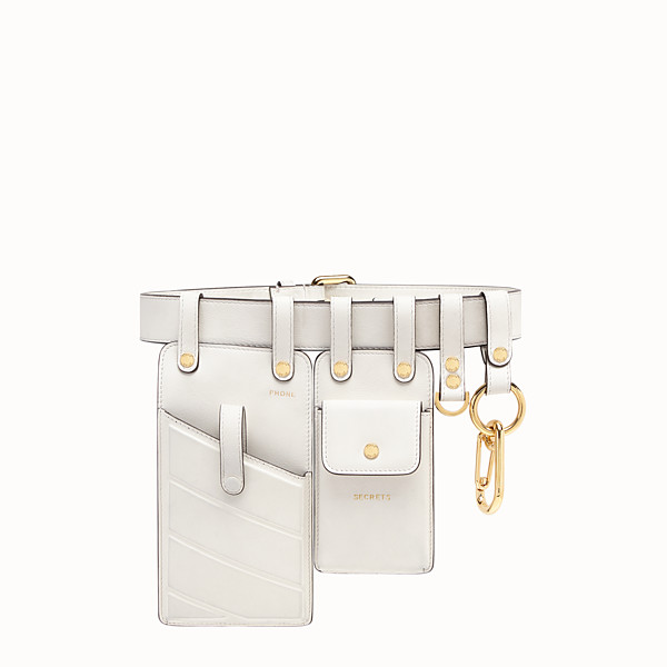 FENDI BELT - White leather belt - view 1 small thumbnail