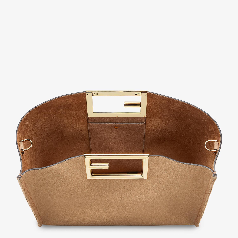 FENDI FENDI WAY LARGE - Beige flannel bag - view 5 detail