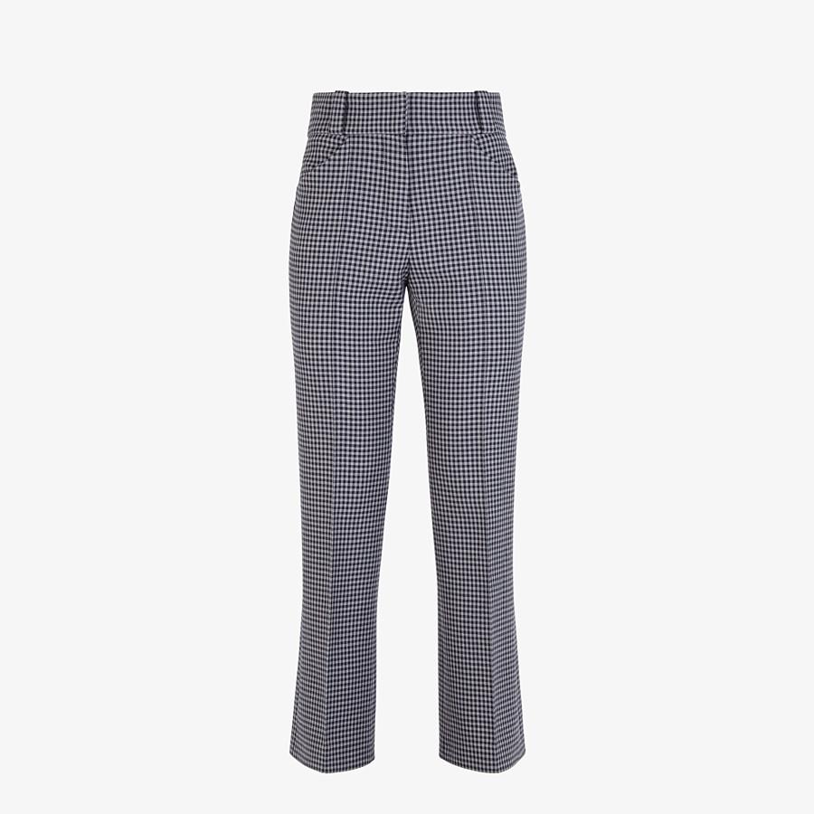 FENDI TROUSERS - Vichy wool trousers - view 1 detail