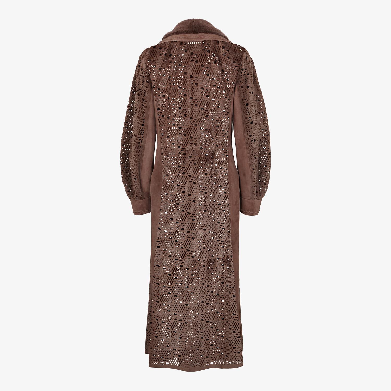 FENDI COAT - Brown mink coat - view 2 detail
