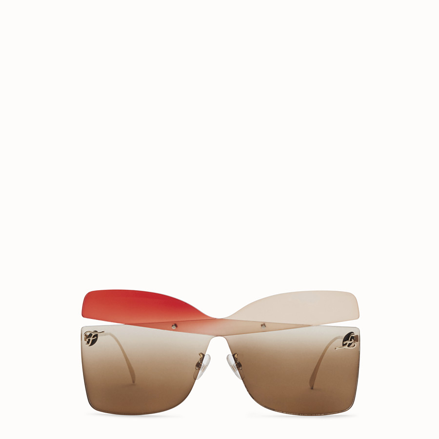 FENDI KARLIGRAPHY - Golden, red, pink-coloured sunglasses - view 1 detail
