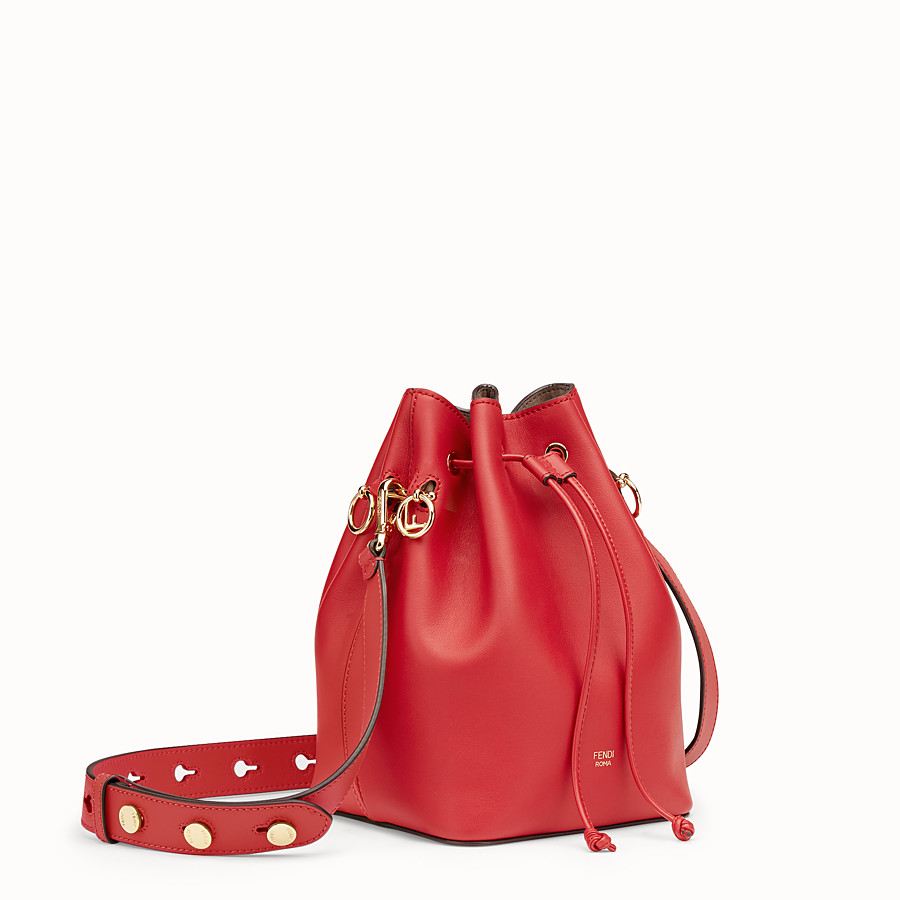 FENDI MON TRESOR - Red leather mini-bag - view 2 detail