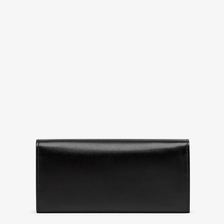 FENDI CONTINENTAL WITH CHAIN - Black leather wallet - view 3 detail