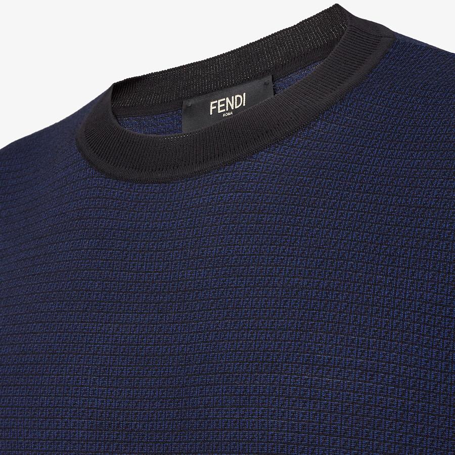 FENDI PULLOVER - Blue viscose jumper - view 3 detail