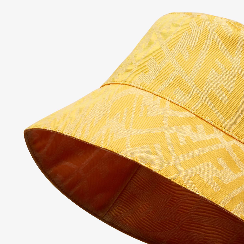 FENDI HAT - Yellow canvas bucket hat - view 2 detail