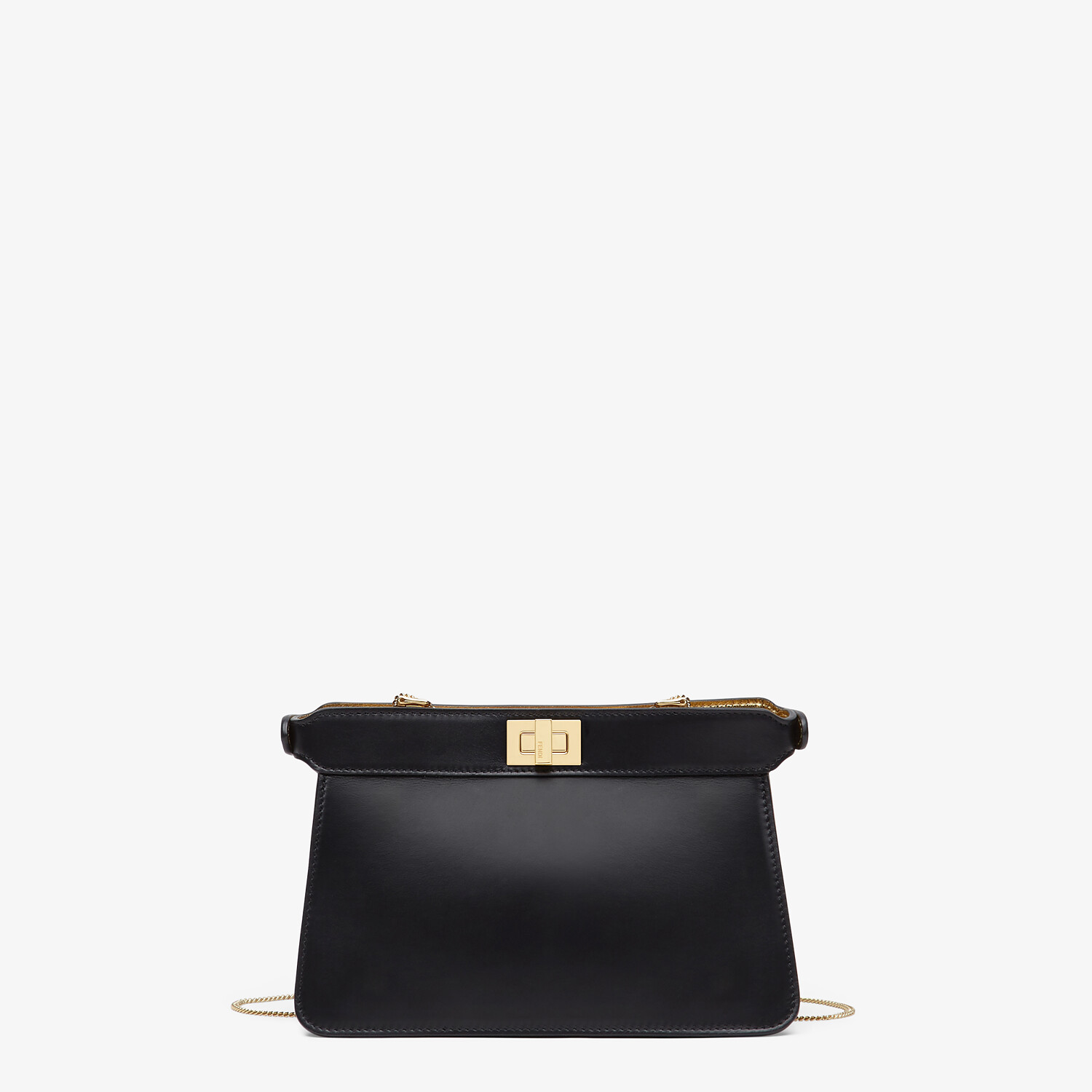 FENDI PEEKABOO I SEE U POCHETTE - Black nappa leather bag - view 3 detail