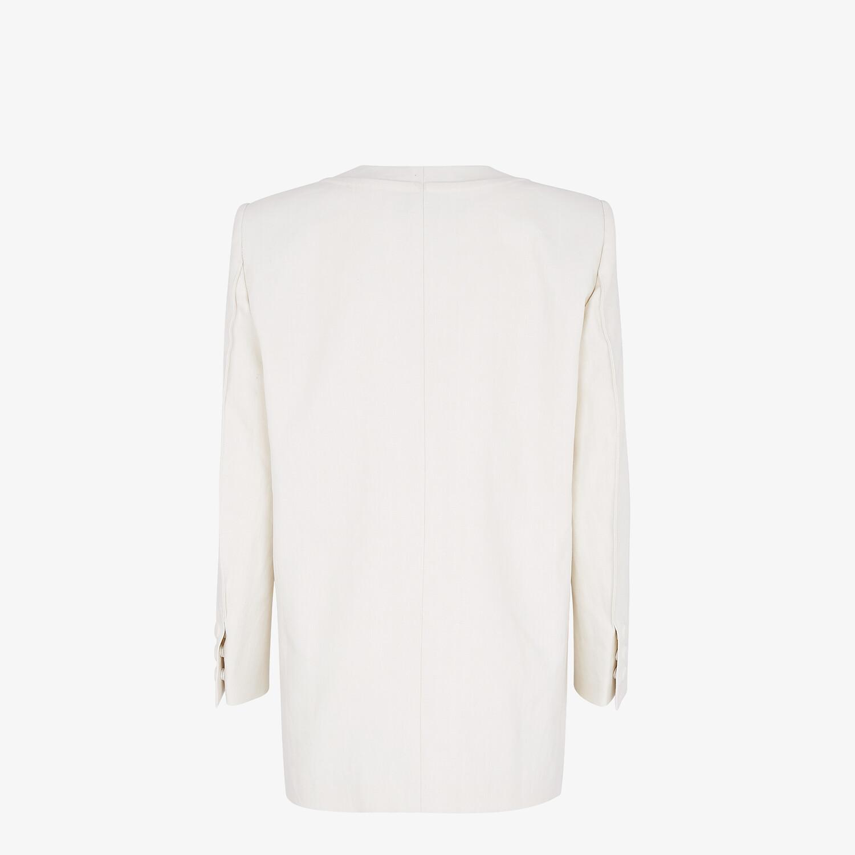 FENDI JACKET - White linen jacket - view 2 detail