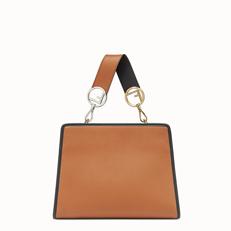FENDI RUNAWAY SMALL - Beige leather bag - view 3 detail