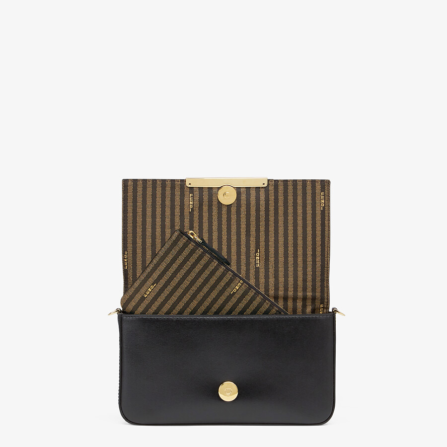 FENDI WALLET ON CHAIN WITH POUCHES - Black leather mini-bag - view 7 detail