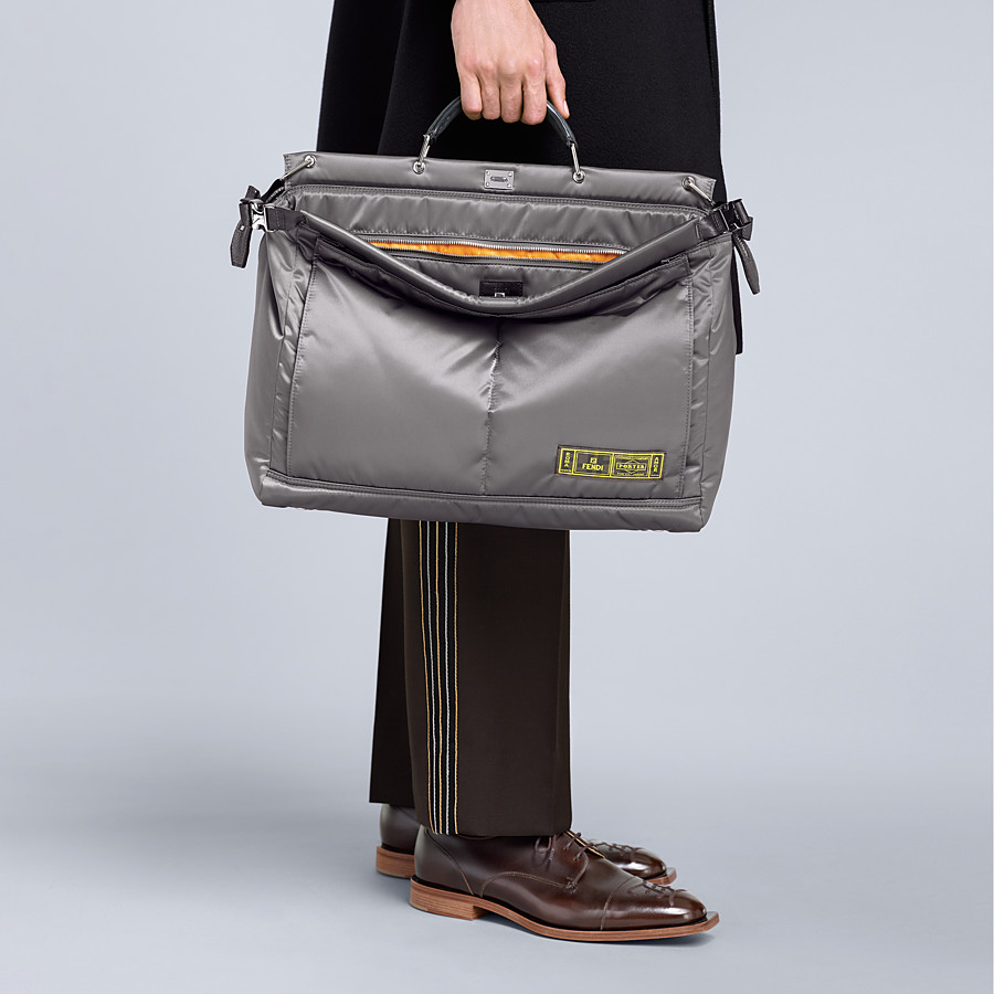 FENDI PEEKABOO MEDIUM FENDI AND PORTER - Silver colour nylon bag - view 6 detail