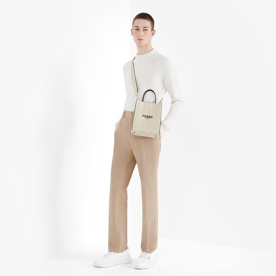 FENDI FENDI PACK SMALL SHOPPING BAG - White leather bag - view 6 detail