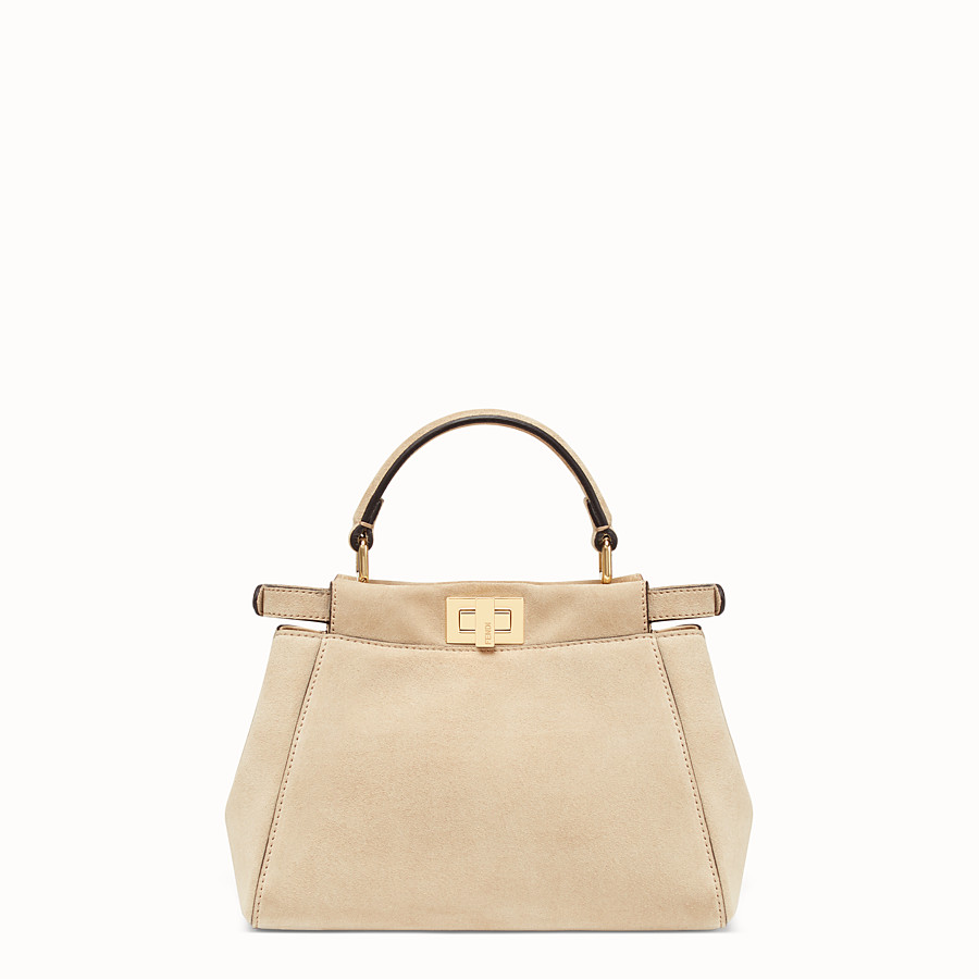 FENDI PEEKABOO MINI POCKET - Beige split bag - view 3 detail