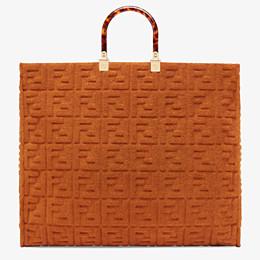 FENDI SUNSHINE SHOPPER - Shopper in brown terrycloth - view 1 thumbnail