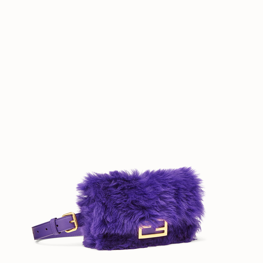 FENDI BELT BAG - Mini bag in purple sheepskin - view 2 detail