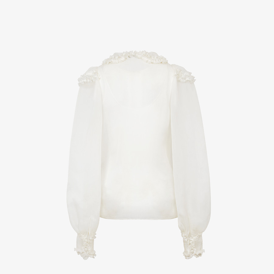 FENDI SHIRT - White silk shirt - view 2 detail