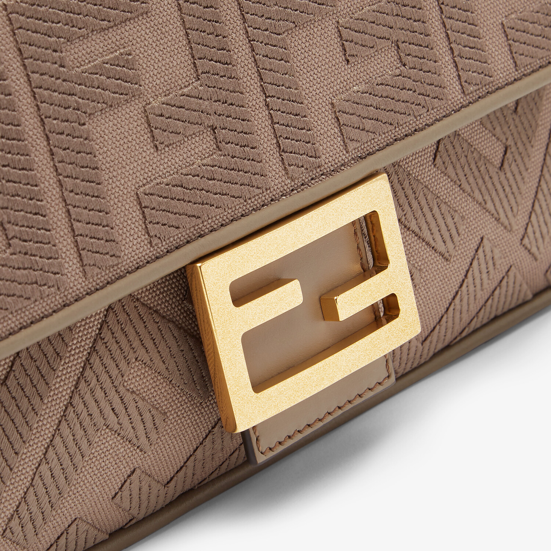 FENDI BAGUETTE - Gray FF canvas bag - view 6 detail