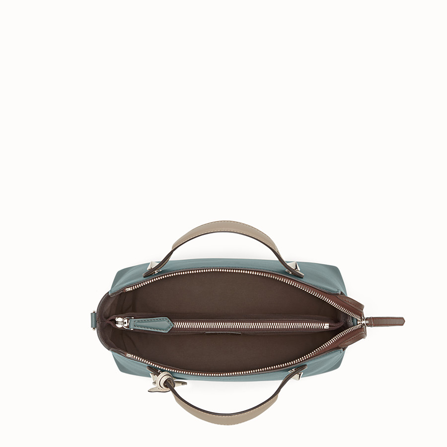 FENDI BY THE WAY REGULAR - Small green leather Boston bag - view 4 detail