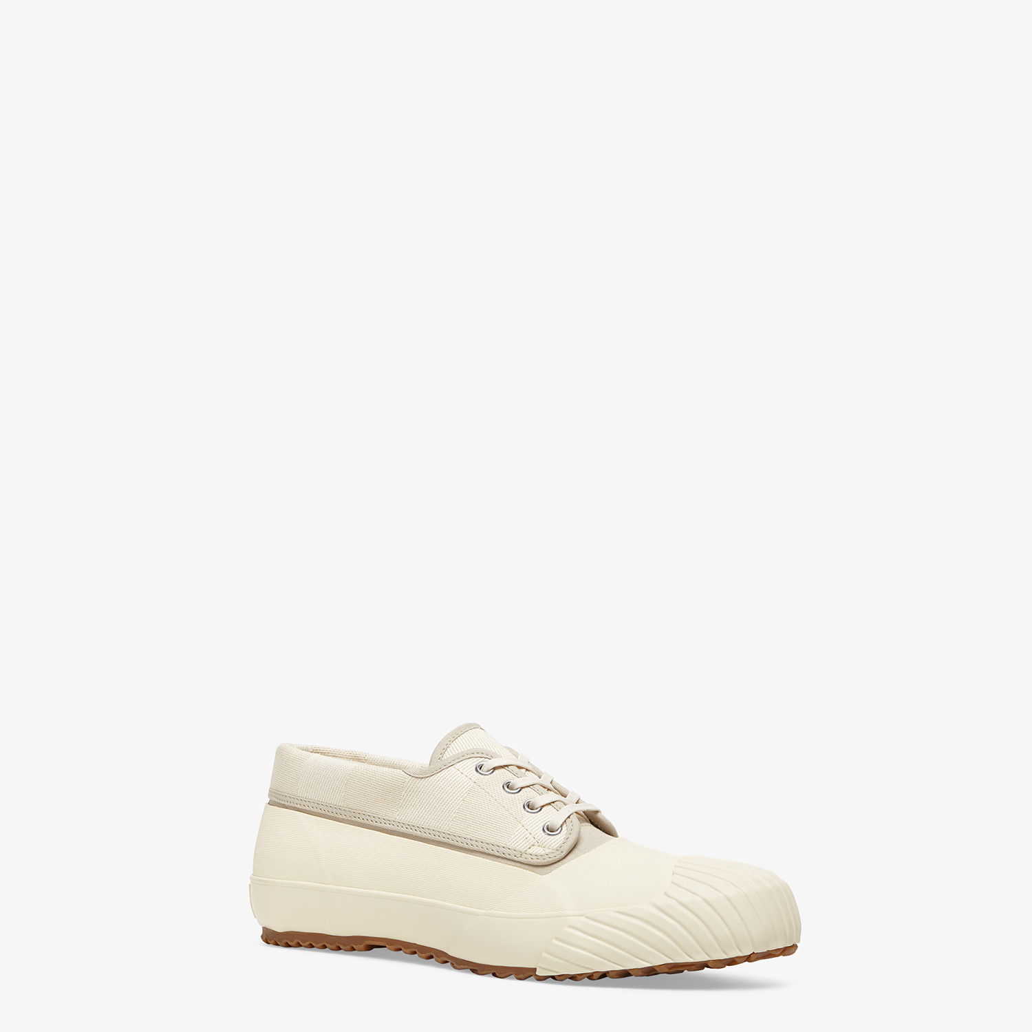 FENDI FENDI AND MOONSTAR SNEAKERS - Low-tops in canvas and white rubber - view 2 detail