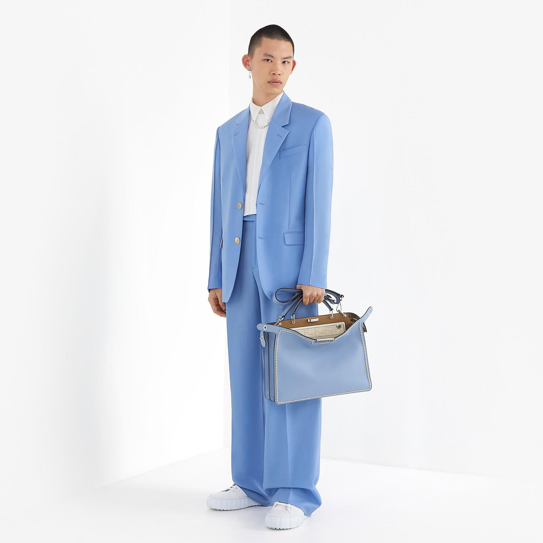 FENDI PANTS - Light blue wool pants - view 4 detail
