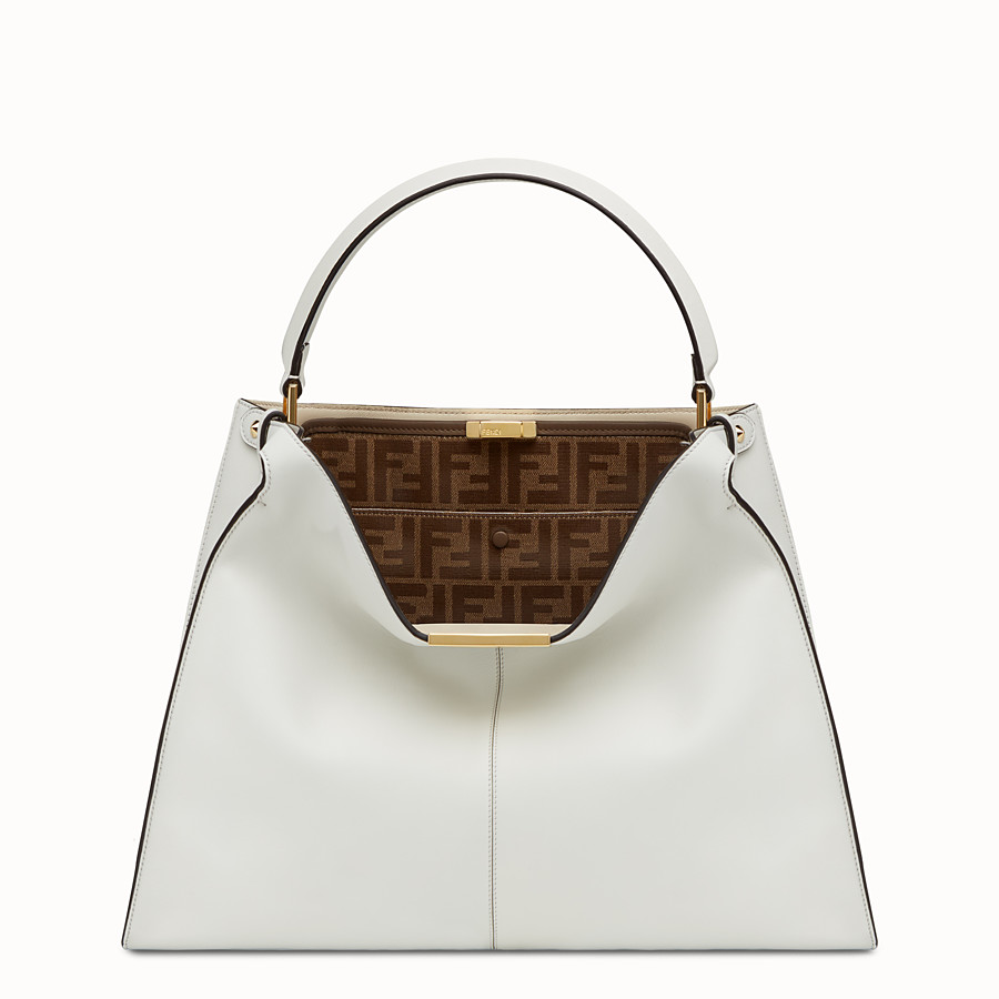 FENDI PEEKABOO X-LITE - White leather bag - view 2 detail