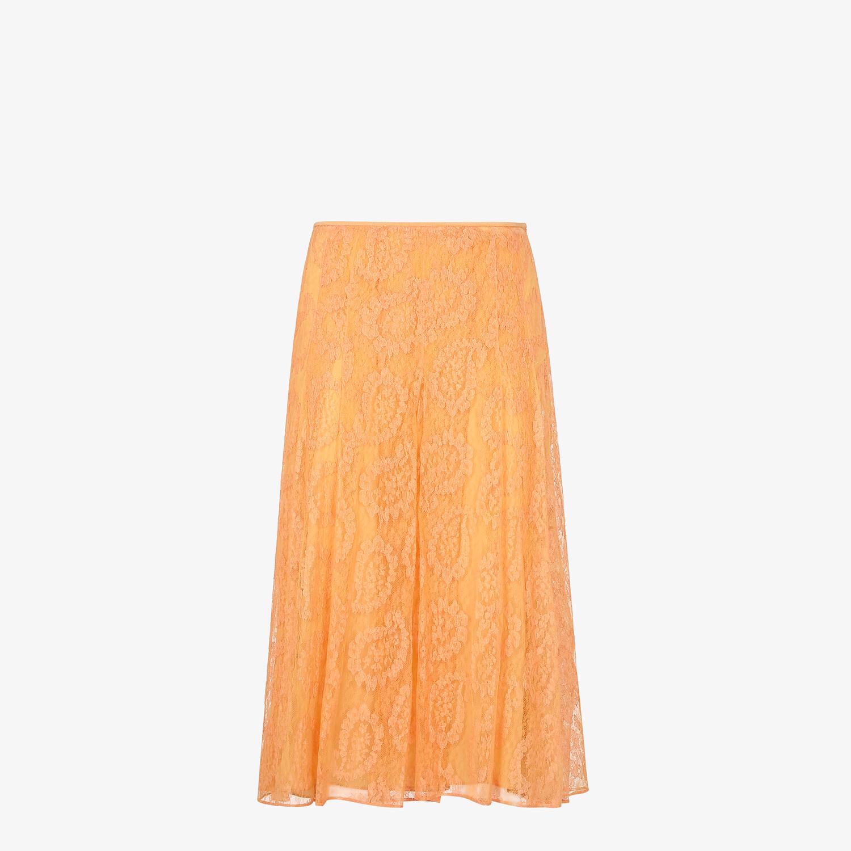 FENDI SKIRT - Orange lace skirt - view 1 detail