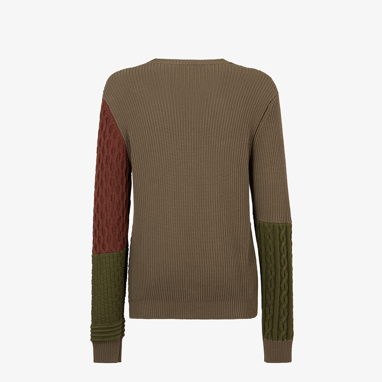FENDI SWEATER - Multicolor cotton sweater - view 2 detail