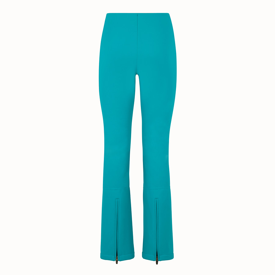 FENDI SKI TROUSERS - Pale blue tech fabric trousers - view 2 detail