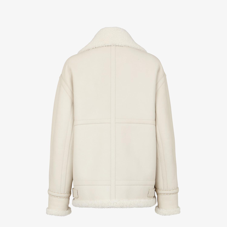 FENDI JACKET - White shearling jacket - view 2 detail