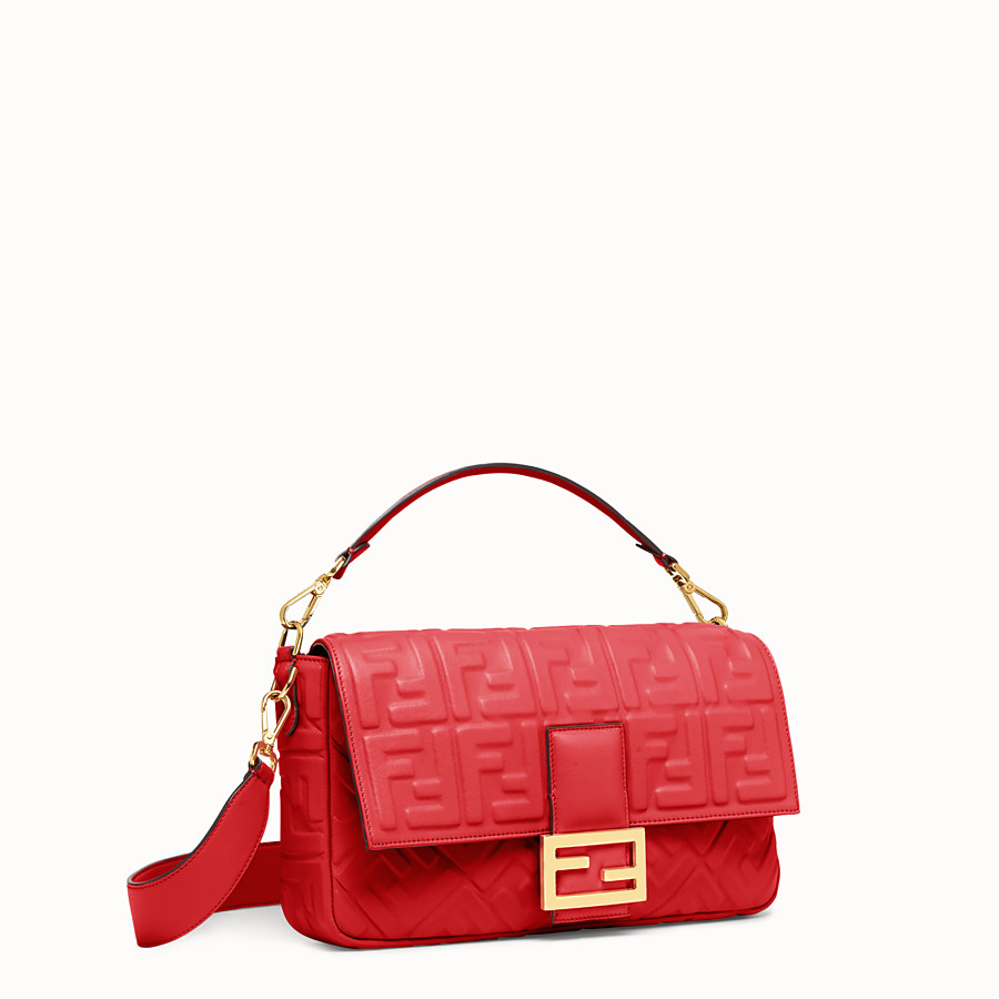 FENDI BAGUETTE LARGE - Red leather bag - view 2 detail