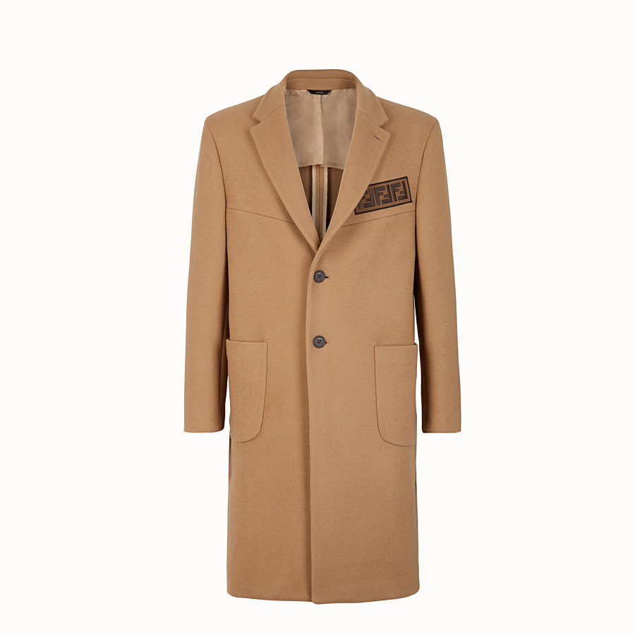 FENDI COAT - Beige wool coat - view 1 detail