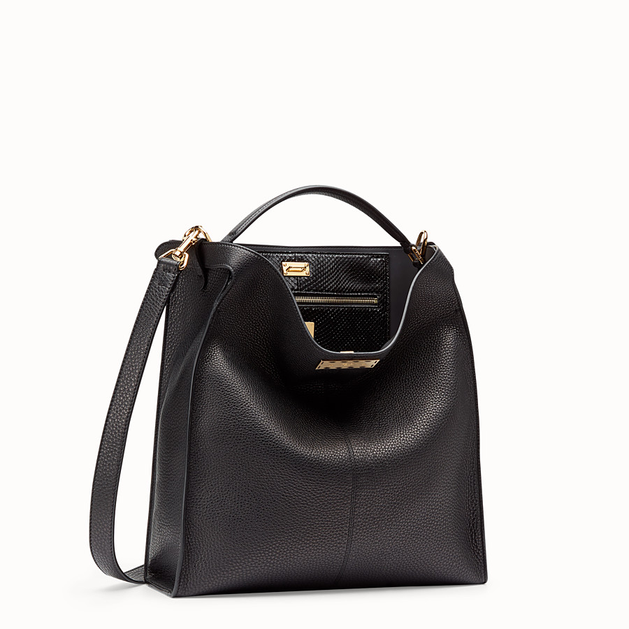 FENDI PEEKABOO X-LITE FIT - Sac en cuir romain noir - view 3 detail