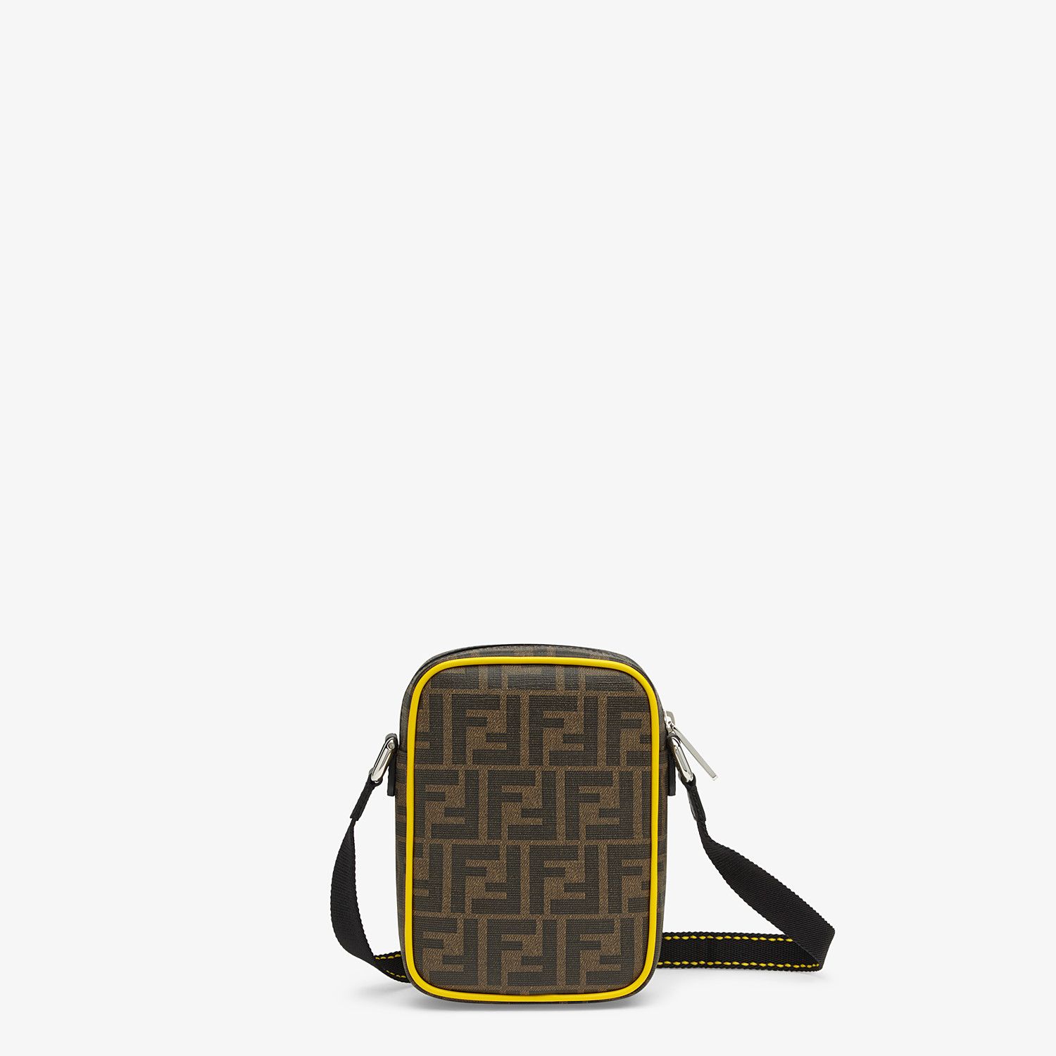 FENDI SMALL MESSENGER - PU and black leather cross-body bag - view 3 detail