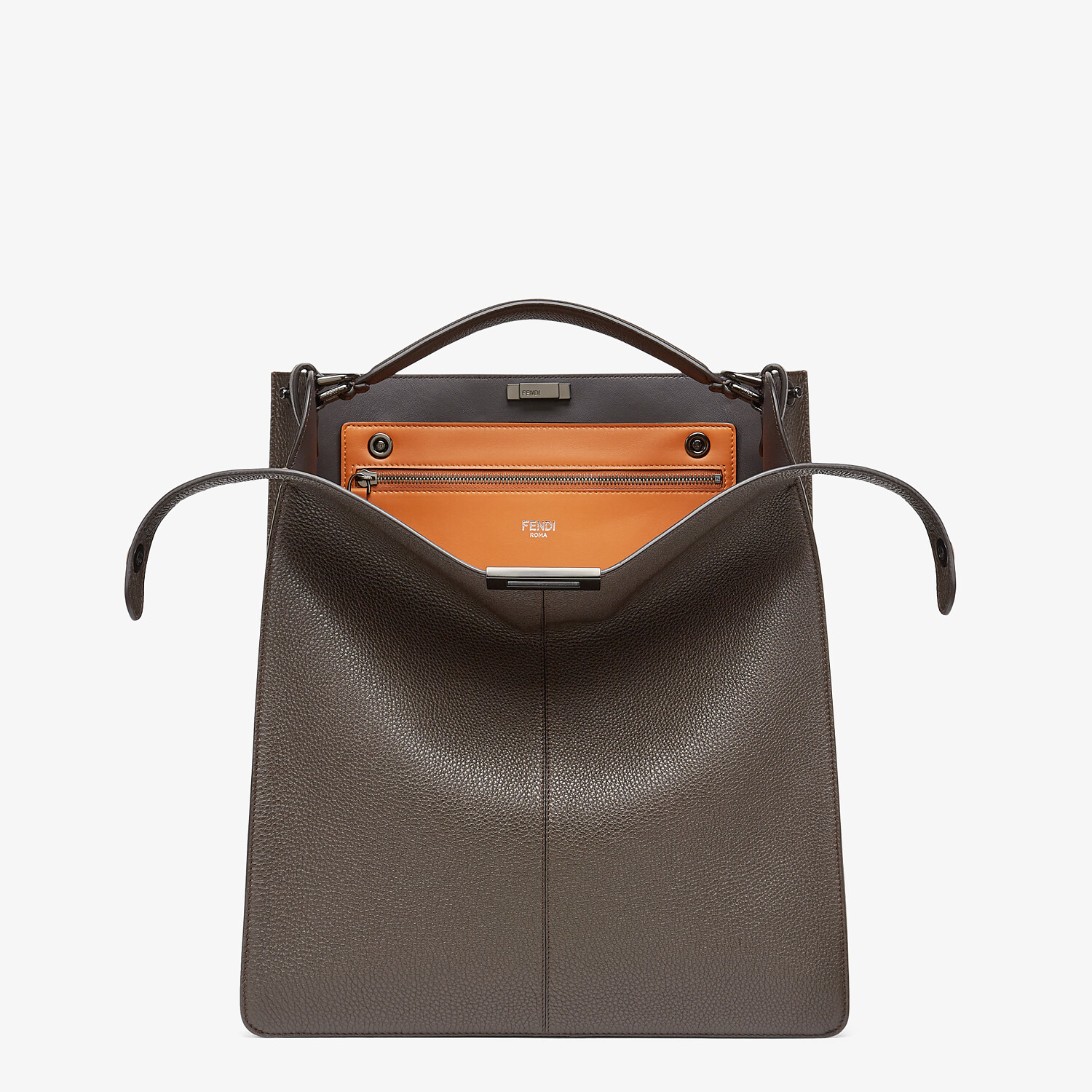 FENDI PEEKABOO ISEEU TOTE - Brown leather bag - view 1 detail