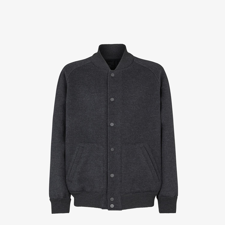 FENDI BOMBER JACKET - Grey wool jacket - view 1 detail