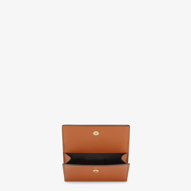 FENDI CARD HOLDER - Brown leather card holder - view 3 detail