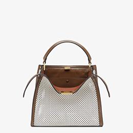 FENDI PEEKABOO X-LITE MEDIUM - White leather bag - view 1 thumbnail
