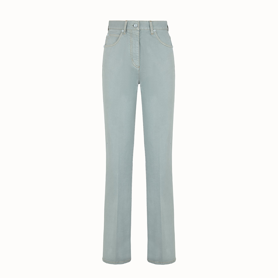 FENDI PANTALONE - Pantalone in denim azzurro - vista 1 dettaglio
