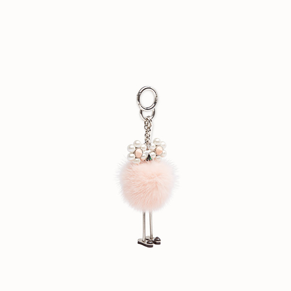 FENDI CHICK CHARM - Pink fur charm - view 1 small thumbnail