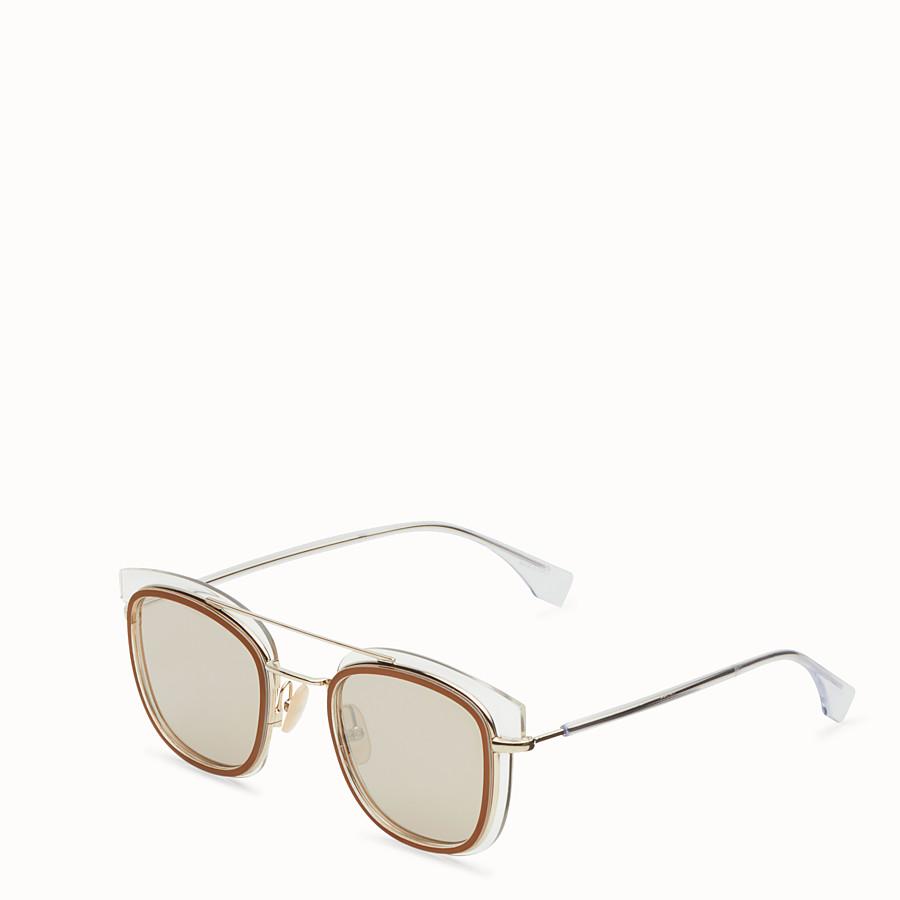 FENDI FENDI GLASS - Transparent and gold sunglasses - view 2 detail