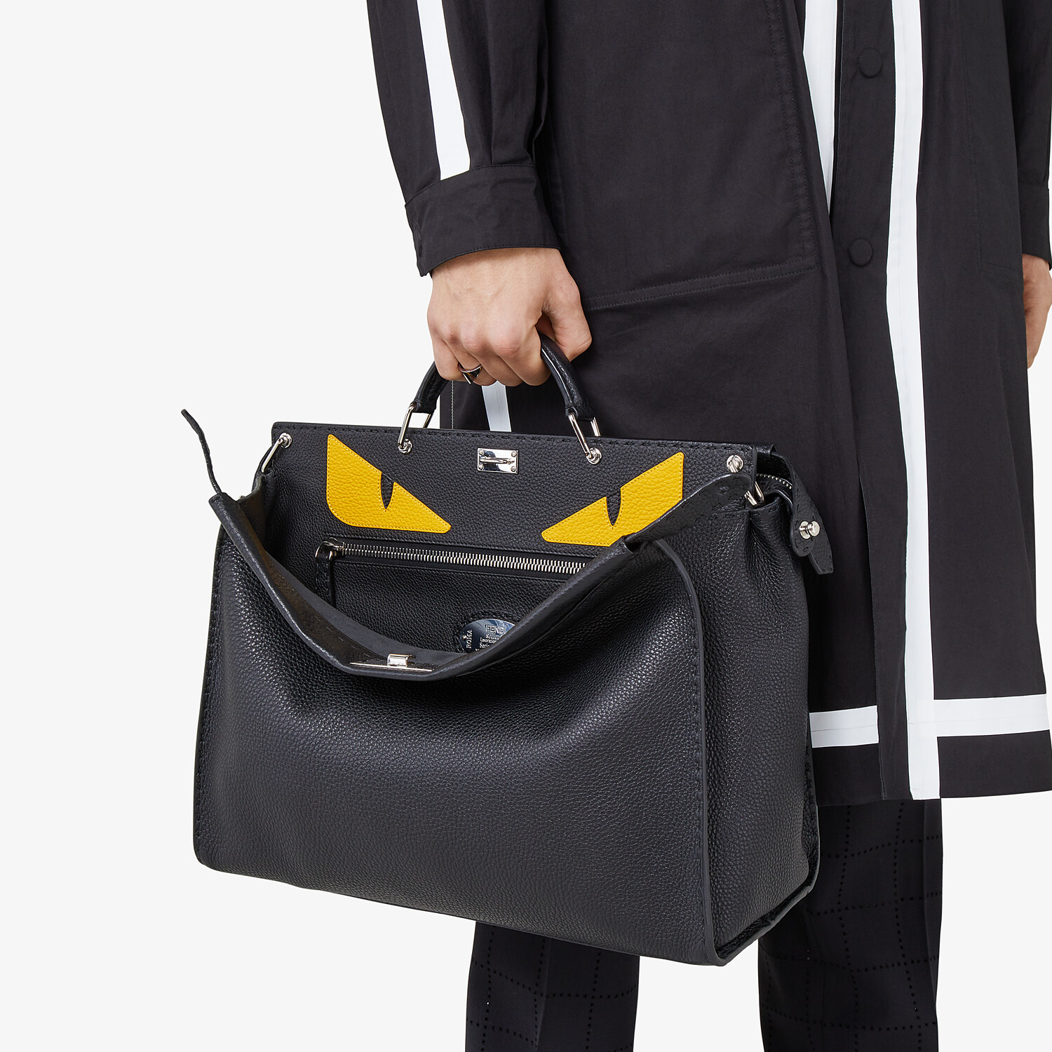FENDI PEEKABOO ICONIC MEDIUM - Black leather backpack - view 6 detail